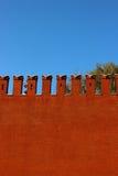 Rote Backsteinmauer des Moskaus Kremlin Stockbild