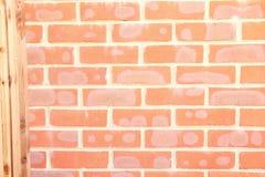 Rote Backsteinmauer-Szene Lizenzfreie Stockfotografie