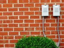 Rote Backsteinmauer-Szene Lizenzfreies Stockfoto