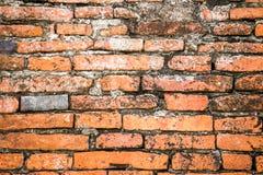 Rote Backsteinmauerbeschaffenheit der Weinlese Stockfotografie