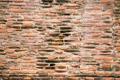 Rote Backsteinmauerbeschaffenheit der Weinlese Stockbilder