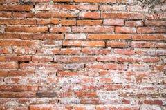 Rote Backsteinmauerbeschaffenheit der Weinlese Lizenzfreies Stockbild