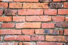 Rote Backsteinmauerbeschaffenheit der Weinlese Stockfotos