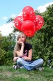 Rote Ballone Stockbilder