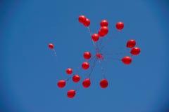 Rote Ballone Stockbild