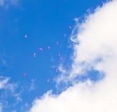 Rote Ballone mit den Meldungen Lizenzfreie Stockfotografie