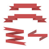 Rote Band-Fahnen-gesetzter Vektor Stockfotografie
