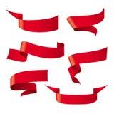 Rote Bandmuster stock abbildung