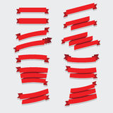 Rote Bandsammlung Stockbilder