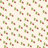 Rote Beere und grünes Blatt Lizenzfreie Stockbilder