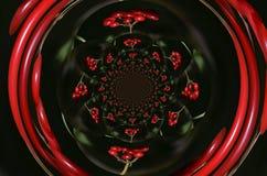 Rote Beeren gespiegelt Stock Image