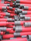 Rote Belüftungs-Rohre Lizenzfreie Stockbilder