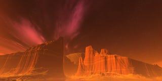 Rote Berge stock abbildung