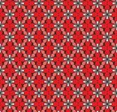 Rote Beschaffenheit des Blumenvektors, nahtlos Stockbild