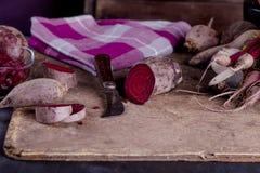 Rote-Bete-Wurzeln Abendessen Lizenzfreies Stockfoto