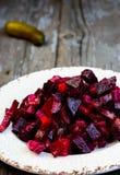 Rote-Bete-Wurzeln Salat stockfotografie
