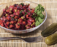 Rote-Bete-Wurzeln Salat Lizenzfreie Stockfotografie