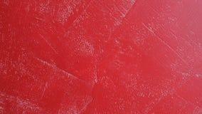 Rote Betonmauer - abstrakter Hintergrund, Design des Innenraums stock video footage