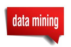 Rote Blase der Sprache 3d des Data - Minings vektor abbildung