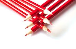 Rote Bleistifte Stockfoto