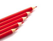 Rote Bleistifte Stockfotos