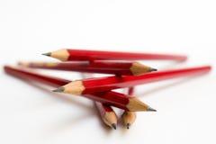 Rote Bleistifte Lizenzfreie Stockfotos