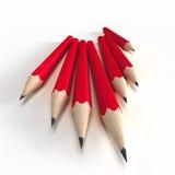 Rote Bleistifte Lizenzfreie Stockbilder