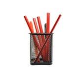 Rote Bleistifte Stockbild