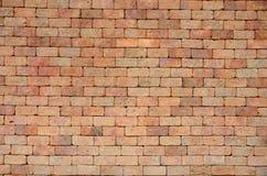 Rote Block-Wand Stockfoto