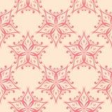 Rote Blumen auf beige Hintergrund Nahtloses Muster Stockfotografie