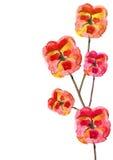 Rote Blumen gemalt stock abbildung