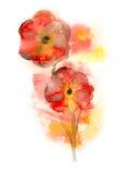 Rote Blumen gemalt vektor abbildung