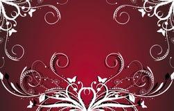 Rote Blumenauslegung Stockfotografie