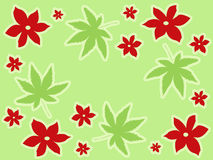 Rote Blumenauslegung vektor abbildung