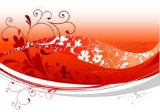 Rote Blumenauslegung Lizenzfreies Stockfoto