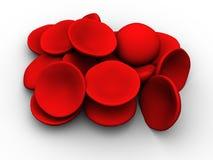 Rote Blutzellen stock abbildung
