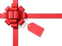 Rote Bogen-Farbband-Marke Lizenzfreie Stockfotos