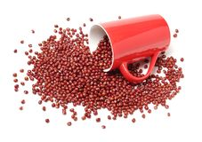 Rote Bohne adzuki Stockbilder