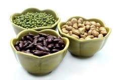 Rote Bohne, Erdnuss, Mungobohnen Lizenzfreies Stockfoto