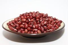 Rote Bohnen in der Platte Stockfoto