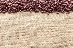 Rote Bohnen gesehen von oben stockfoto