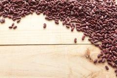 Rote Bohnen gesehen von oben lizenzfreie stockfotos