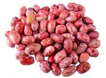 Rote Bohnen lokalisiert auf Weiß Stockfotos