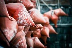 Rote Bojen Stockfoto