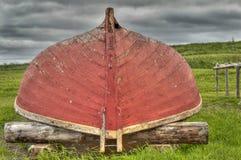 Rote Boots-Festung von Louisbourg Stockbild