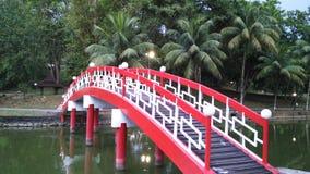 Rote Brücke Stockfoto
