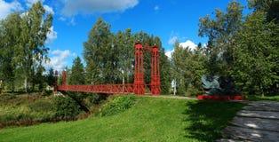 Rote Brücke Lizenzfreies Stockfoto