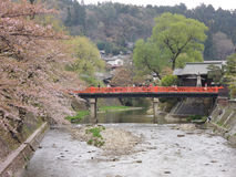 Rote Brücke Lizenzfreie Stockfotos