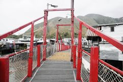 Rote Brücke in Tai O Stockfotos