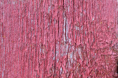 Rote Brettwand mit roter Farbe Stockbild